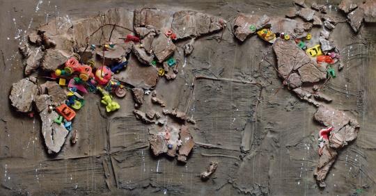冷军 《世纪风景之三》 105×199.5cm 布面油画 1995  估价:2500万-3500万元