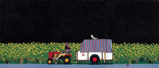 陈飞 《今夜突然下起小雪——致可爱的老汉史崔特》 180×140cm 布面丙烯 2008  估价:150万-250万元