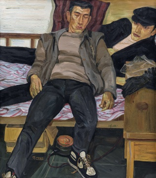 刘小东 《休息》 138×120cm 布面油画 1988估价:680万-880万元