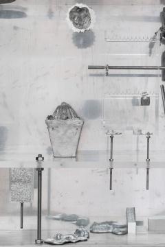 《花园》(局部)80 × 120 × 23 cm铝,不锈钢,铁,亚克力,聚甲醛 2019