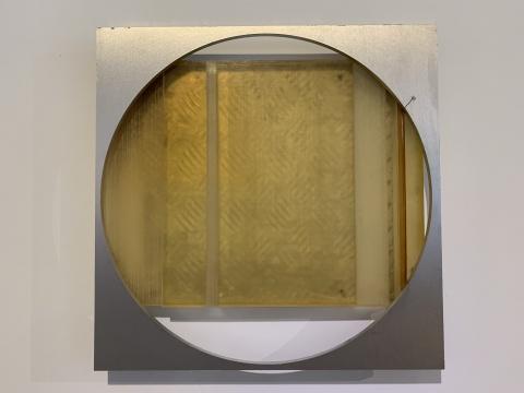 《次生 No.6》 52×52×5.5cm 铝,聚氨酯,不锈钢 2019
