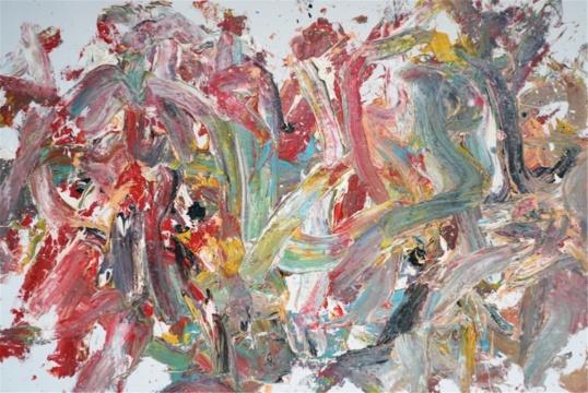 王易罡《抽象作品a78》200x300cm 布面油画 2018