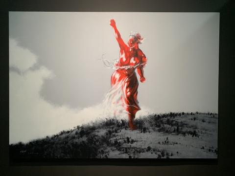 武明中 《自由行》 300×210cm 布面丙烯 2019