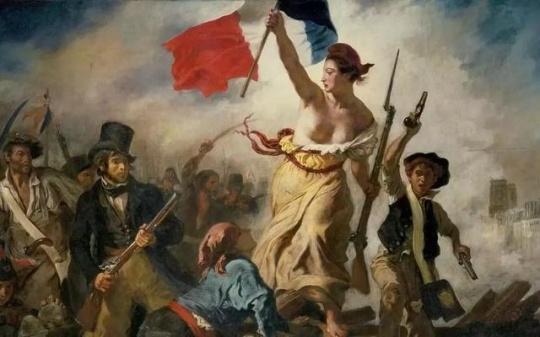 (法)欧仁·德拉克洛瓦《自由引导人民》(局部)现收藏于法国巴黎卢浮宫
