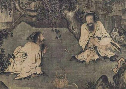(宋)李唐《采薇图》局部,现收藏于北京故宫博物院