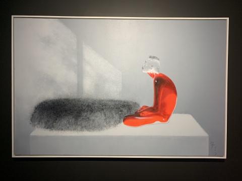 武明中 《独与天地往来》 200×130cm 布面丙烯岩彩 2016