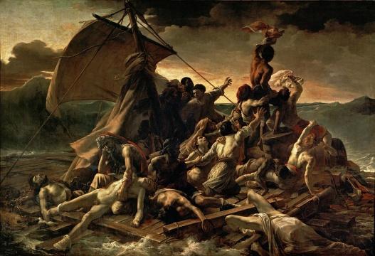 (法)泰奥多尔·席里柯 《梅杜萨之筏》,现收藏于法国巴黎卢浮宫