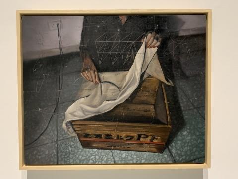 时永骏 《被白布盖住的箱子》 60.5×72.5cm 布面油画 2019