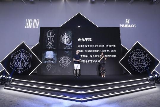 HUBLOT宇舶表品牌大使马克西姆·普莱西娅-布奇(左)与宇舶表大中华区市场总监胡可(右)