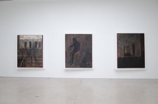 王玉平创作于1989年的四幅油画《冥系列》,这是艺术家就读美院时的毕业创作,也是作品问世30年后的首次亮相