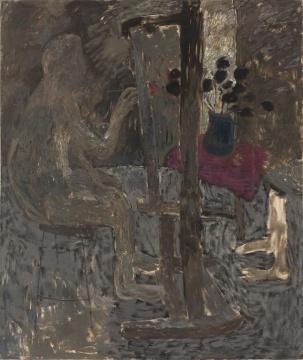 王玉平 《冥(毕业创作)-5 》 215x170cm 1989年