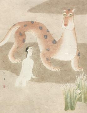 《山之阿》 72×55cm 纸本设色 2010