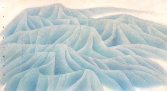 《万壑赴东》 54×101cm 纸本设色 2008