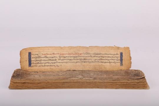 索卡·洛追杰布《四部医典·后续部》 40×9×2.8cm 16世纪  馆藏:青海藏文化博物院