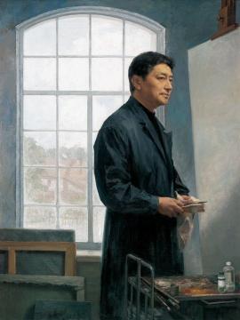 张祖英《自画像》160×125cm布面油画2007