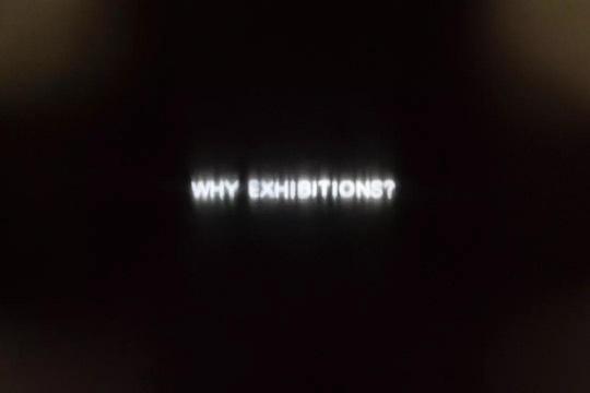 王将 《独白》 120×100cm 白色霓虹灯管 2018  车库实验艺术空间展览现场
