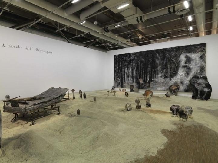 """2015年法国蓬皮杜艺术中心""""安塞姆·基弗回顾展""""现场"""