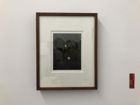 蔡东东 《麦积山》 16x21cm 银盐照片、丙烯 独版