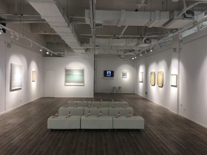"""孙策个展""""传音入密""""展览现场,苏州曼艺术空间,2018,策展人:廖廖"""
