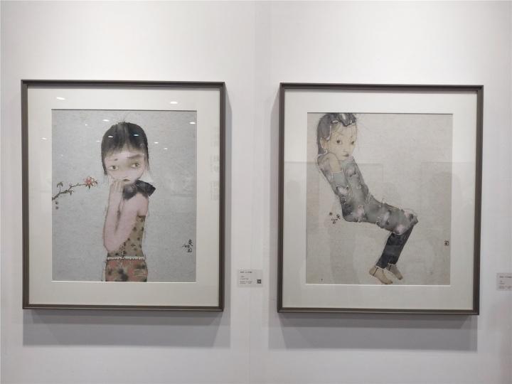 刘庆和《一枝花》《一瞥》65×55cm 纸本水墨 2018