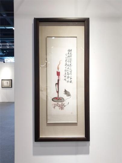 博览会现场,由一位浙江藏家提供的齐白石、傅抱石等近现代大师作品