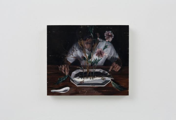 时永骏《百花鱼》72×91cm 布面油画 2019