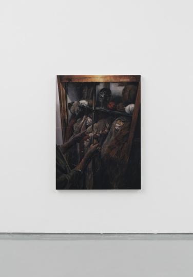 时永骏《编发的手》116×91cm 布面油画 2019