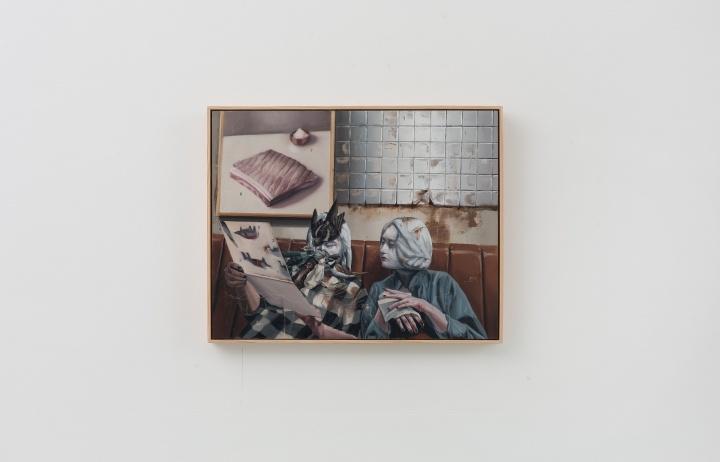 时永骏《有鸟环绕的烧肉店》72.5×91cm 布面油画 2018