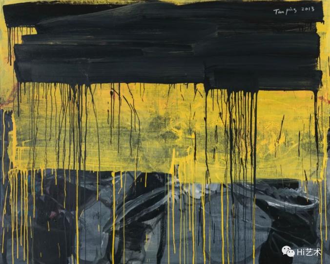 《覆盖—黄色》160×200cm布面丙烯2013