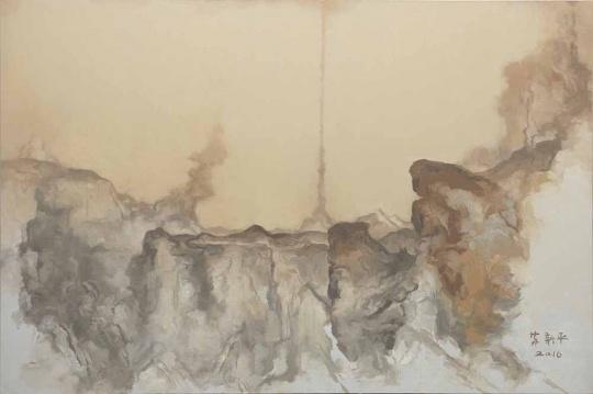 苏新平《灰色17号》,布面油画,200x300cm,2016年
