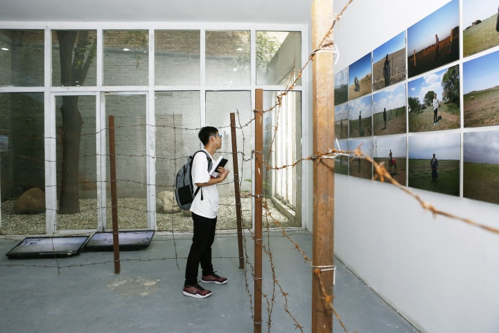 """""""围栏计划""""展览现场"""