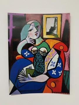 肯·加贺美《毕加索和图钉#13》28×22cm 铜、海报 2018