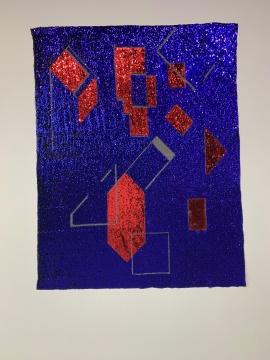 法蒂玛·罗德里哥 《无题》 250×150cm 织物上亮片 2019