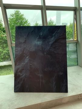 周奥 《景观/对象PT》 122×122×30.5cm 橡木上固化油墨打印 2016