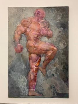 《拳击人NO.7》 256×170cm布面油画 2019