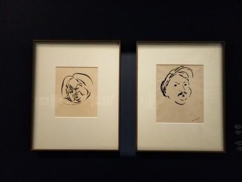 安德烈·马松的纸本水墨,1946