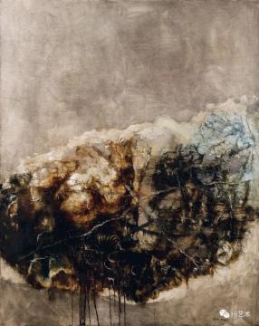 lot 2087 周春芽 《裸女和石头》 150×120cm 布面油画 1992  估价:500万-700万元  二十世纪及当代艺术夜场