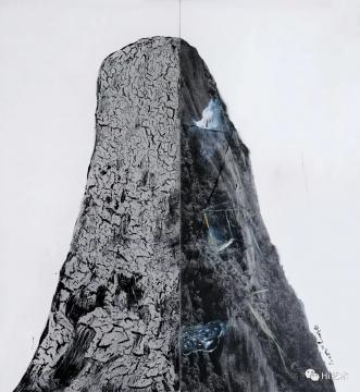 lot 2076 尚扬 《董其昌计划-15》 300×277cm 布面综合材料 2008  估价:400万-600万元  二十世纪及当代艺术夜场