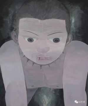 lot 1861 韦嘉 《暴力美学II》 120×100cm 布面油画 2007  估价:12万-18万元  当代艺术专场