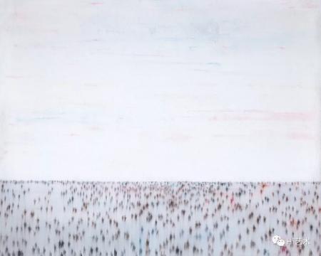 尹朝阳 《白》 200×250cm 布面油画 2008  成交价:66.7万元  估价:8万-12万元
