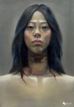 宋琨 《尊严——自画像》 65×45.5cm 布面油画 2002  成交价:59.8万元  估价:8万-12万元