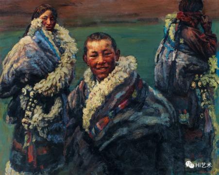 陈逸飞 《绿绿的草原》 200×250cm 布面油画 1996  成交价:2185万元,由8153号牌竞得  估价:1200万-1800万元
