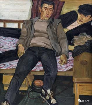 刘小东 《休息》 138×120cm 布面油画 1988  成交价:1127万元,由8153号牌竞得  估价:680万-880万元