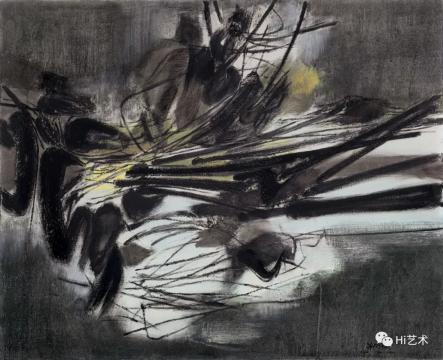 朱德群 《第九十号构图》 82.5×100cm 布面油画 1961  流标  估价:580万-780万元