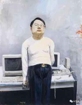 刘小东 《电脑领袖》230×180cm 布面油画 1996  最高单价:4600万元  拍前估价待询,2019北京保利春拍