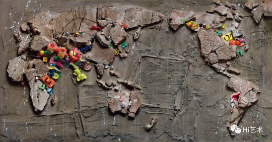 冷军 《世纪风景之三》 105×199.5cm 布面油画 1995  成交价:4370万元,刷新艺术家个人拍卖纪录  估价:2500万-3500万元,2019中国嘉德春拍