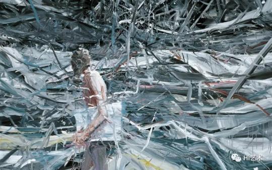 贾蔼力《疯景》 200×267cm 油彩画布 2007  成交价:1812.5万港元,刷新艺术家个人拍卖纪录  估价:800万-1000万港元,2019佳士得香港春拍