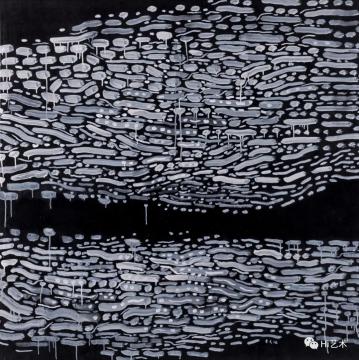 余友涵 《流动1990-1》 131×131cm 布面油画 1990  成交价:713万元  估价:350万-550万元,2019中国嘉德春拍