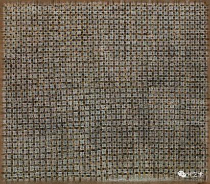丁乙 《十字96-38》 140×160cm 布面油画 1996  成交价:126.5元  估价:90万-120万元,2019中国嘉德春拍