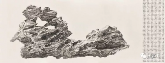 刘丹 《小英石》 142.7×367.1cm 水墨 纸本 2014  成交价:528.5万港元  估价:350万-450万港元,2019佳士得香港春拍